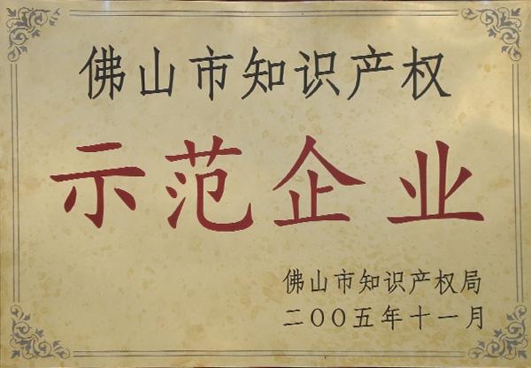 2005年佛山市知识产权示范企业